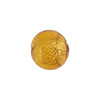 Light Topaz 12mm 24kt Gold Foil Round, Murano Glass Bead