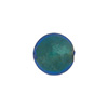 Aqua 12mm 24kt Gold Foil Round, Murano Glass Bead