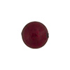 Red (Ruby) 12mm 24kt Gold Foil Round, Murano Glass Bead