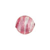 Rubino Striped Silver Foil Round 12mm, Murano Glass Bead
