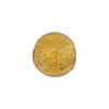 Gaggia (Amber) 14mm Gold Foil Round Murano Glass Bead