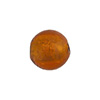 Topaz 14mm Gold Foil Round Murano Glass Bead