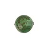 Sea Green over Gold Foil Murano Glass Bead, Aventurina Accents, Round, 14mm