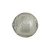 Light Steel Foil Round 16mm Murano Glass Bead