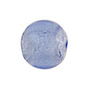 Light Bluino Silver Foil Round 16mm Murano Glass Bead