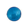 Aqua Silver Foil Round 16mm Murano Glass Bead