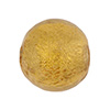Amber, Gold Venetian Glass Bead 20mm Round