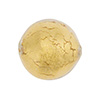 Crystal/Gold Venetian Beads Gold 20mm Round