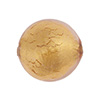 Rose, Gold Venetian Glass Beads Gold 20mm Round