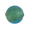 Light Aqua Gold Venetian Beads Gold 20mm Round