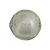Light Steel Silver Foil Round 20mm, Murano Glass Bead