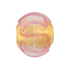 Rubino 24kt Gold Foiil Baroque 18mm Round Swirls Murano Glass