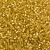 Venetian Seed Bead 1 OZ Size 11/0 Silver Lined Golden Rod 1mm Length