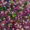 Venetian Seed Bead 1 OZ Size 2mm Pink Mix