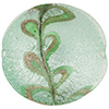 Scavo Textured Murano Glass Disc Bead, Sea Green & Exterior White Gold, 20mm