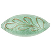 Scavo Textured Murano Glass Oval Bead, Sea Green & Exterior White Gold, 32mm