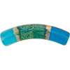Serale Murano Glass Bead, Aqua, Curved Tube, 35mm x 7mm