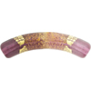 Murano Glass Bead Amethyst Serale Bicolor Tubes 35x7mm