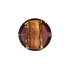 Deep Amethyst Gold Band Puffy Disc 16mm