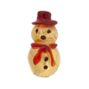 Red Hat Fancy Gold Foil Snowman Small Lampwork Murano Glass