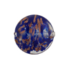 Sommerso Disc 20mm Aventurina Cobalt, Murano Glass Bead