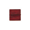 Red Gold Foil 11-12mm Square Venetian Bead
