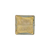 Light Steel Gray Murano Glass Gold Foil Square, 14mm