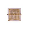 Gold Foil Murano Glass Bead, 14mm Square, Rose