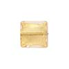 Rose Gold Foil 14mm Square Venetian Bead