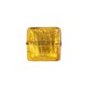 Light Topaz Gold Foil 14mm Square Venetian Bead
