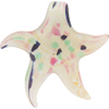 Aqua Rubino 24kt Gold Foil Starfish Pendants Large Self Bail Murano Glass
