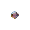 Swarovski 5328 XILION Faceted Bicone, 4mm, Crystal Lilac Shadow