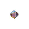 Swarovski 5328 XILION Faceted Bicone, 5mm, Crystal Lilac Shadow