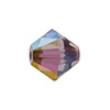 Swarovski 5328 8mm Xilion Faceted Bicone, Crystal Lilac Shadow