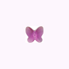 Swarovski Elements 5754 Butterfly Bead, 8mm Fuchsia