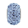 Swarovski BeCharmed PaveSquare Stone Bead, Light Sapphire