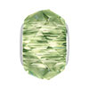 Swarovski 5948 BeCharmed Briolette, Peridot, 4.5mm Hole