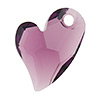Swarovski 6261 Devoted 2 U Heart Pendant, 17mm, Amethyst