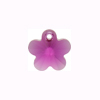 Swarovski Elements 6744 Flower Pendant, 14mm Fuchsia