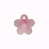 Swarovski Elements 6744 Flower Pendant, 14mm Lt Rose