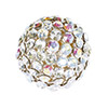 Swarovski Crystal Mesh Ball, 12mm, Crystal Multi w/Silver Casing