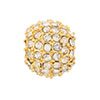 Beadelle Galaxy Large Hole Bead, 12mm, Gold w/ Crystal