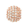 Beadelle PaveLarge Hole Bead, 12mm, Rose Gold w/ Crystal
