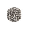 Beadelle Galaxy Large Hole Bead, 14mm, Gun Metal w/Black Diamond