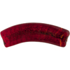 Ruby Red Curved Flat Tube Murano Glass Gold Foil
