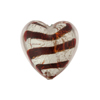 Ruby White Gold Tiger Stripes Heart 20mm