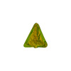 Dark Peridot Gold Triangle 12mm Murano Glass Bead