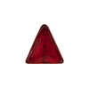 Murano Glass Bead Triangle 15x12mm Red & 24kt Gold Foil