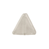 Crystal White Gold Foil Triangle 15x12mm, Murano Glass Bead