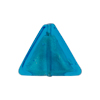 Aqua White Gold Triangle 18mm Murano Glass Bead